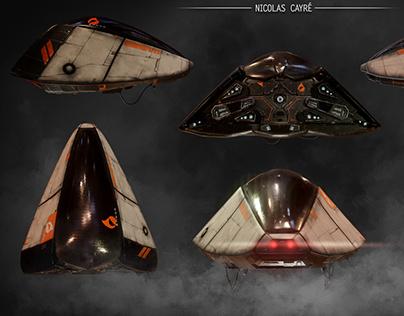 Realtime Sci-Fi Unreal 4 scene - Playable