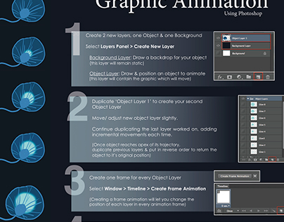 Instructional Graphic - How to make a .gif in photoshop