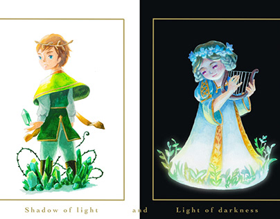 Light and darkness Binding mockup