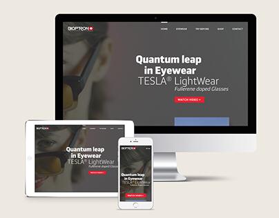 2018 | Bioptron | Tesla Eyewear Onepage