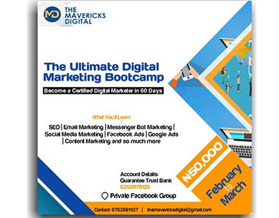 The Mavericks Digital Marketing Bootcamp flier