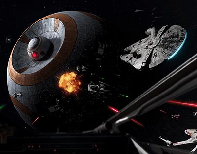 BB-8 Deathstar   Star Wars Fan Art