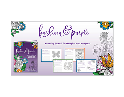 Fine Linen and Purple Ad Set