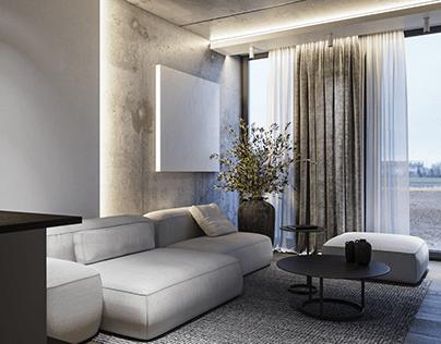 Concrete lover interior CGI