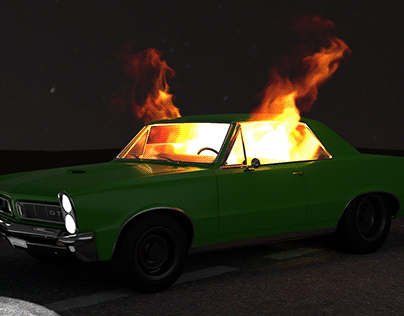 Fire in the car