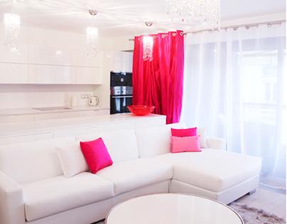 """Raspberry Breeze""Apartment Interior   Cannes, France  "