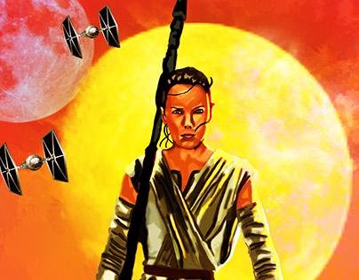 The force awakens digital portraits:Rey
