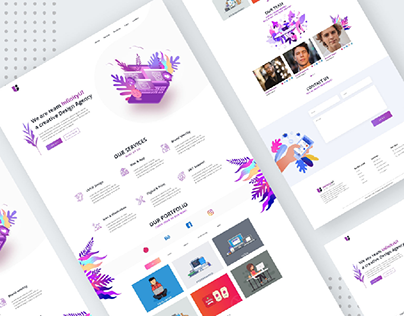 InfinityUI - Design Agency Website Template Design