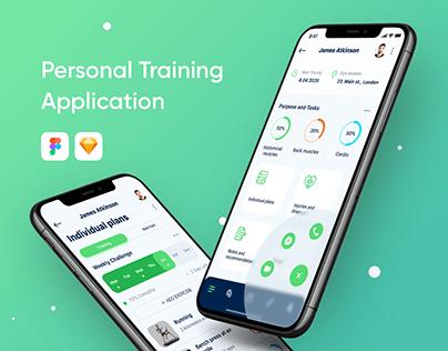 Personal training application