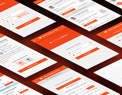 Virtual Clinic  App UI