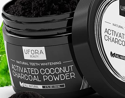 UFORA Charcoal Label Design
