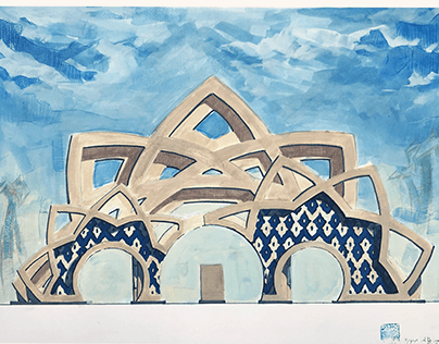 Isfahan City gate design (Uni project)