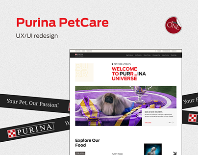 Purina Corporate website UX/UI redesign