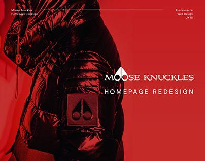 Moose Knuckles - Homepage Redesign