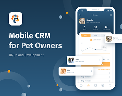Mobile CRM for Pet Owners | UI/UX and Development