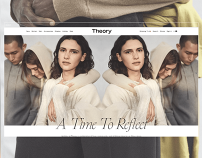 Theory Holiday19 Campaign Homepage Takeover