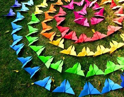 VIBGYOR, An Origami Installation