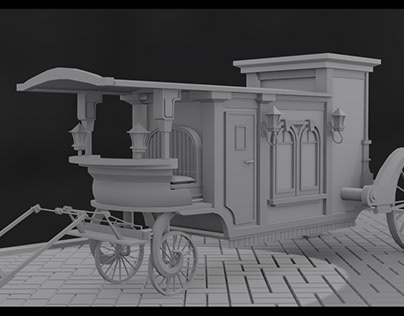 3D Victorian Transportvehicle Quick model