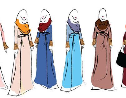 illustrator jubah