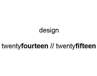 Design 2014 & 2015
