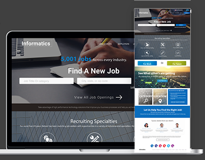 Staffing & Recruiting Website Design & Development