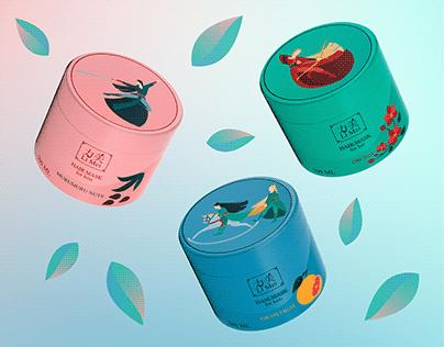 Packaging design of hair masks