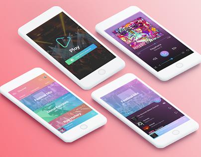 Play - Social Music App Concept - Daily UI #009