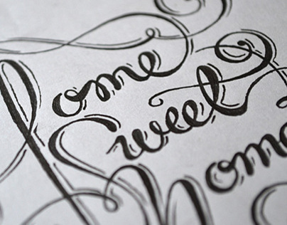 Home sweet home I Lettering