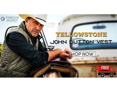 TV Series Yellowstone John Dutton Vest In Green