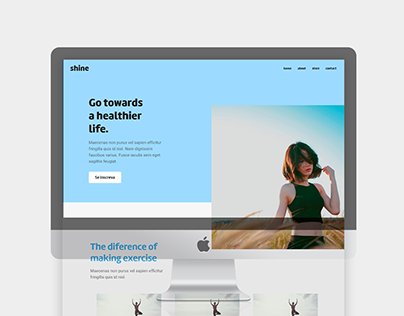 Shine - Website - UI Design Studies