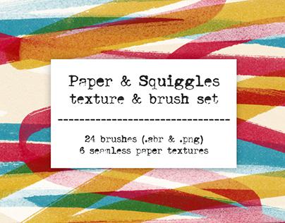 Marker Brush & Paper Texture set