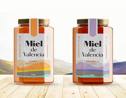Miel de Valencia - honey label design