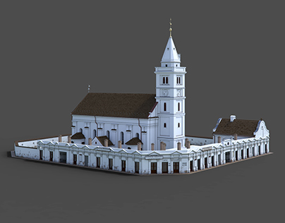 Digital reconstruction of a Protestant church