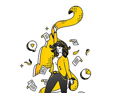 """Иллюстрации для книги """"Как открыть свой первый бизнес"""""""