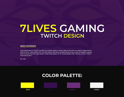 7Lives Gaming - Twitch Design