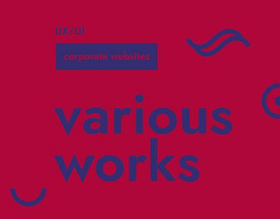 corporate websites various works
