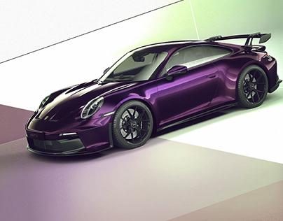 PORSCHE 911 GT3 (992)/Viola Metallic