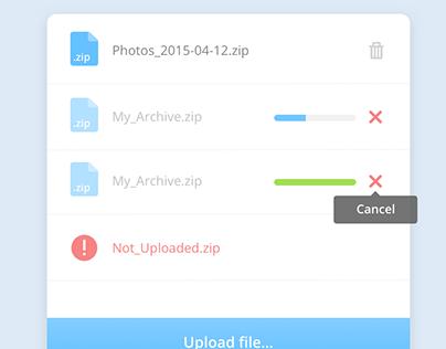 Form FileUpload (free .sketch file )