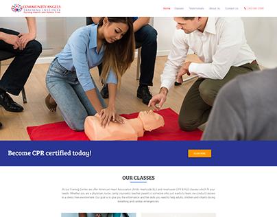 Training institute web design