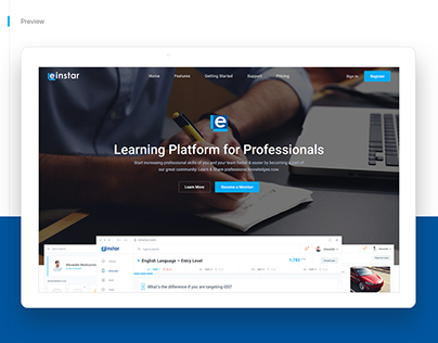 Einstar - A learning platform for businesses