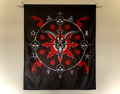PANDAEMONIUM banner-flag