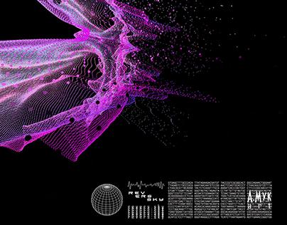 Hyperreality space - Digital flowers
