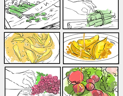 Food promotion storyboard