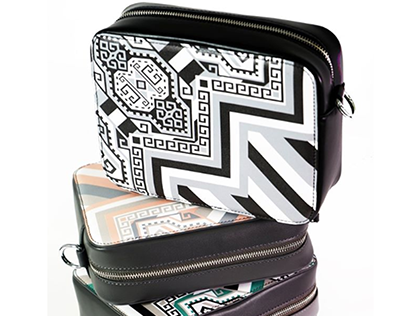 Geometry, carpet patterned bag