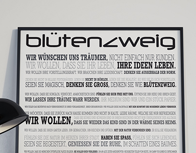 Blütenzweig Manifest | Promotional Poster