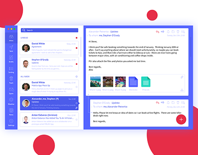Email App Interface