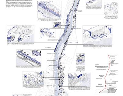 Urban design of Moraca riverbank