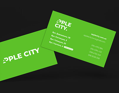 Business card for Apple City