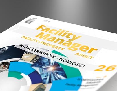 Facility Manager – logo, magazine & web layout design