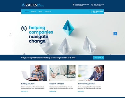 Web Solutions Redesign Concept
